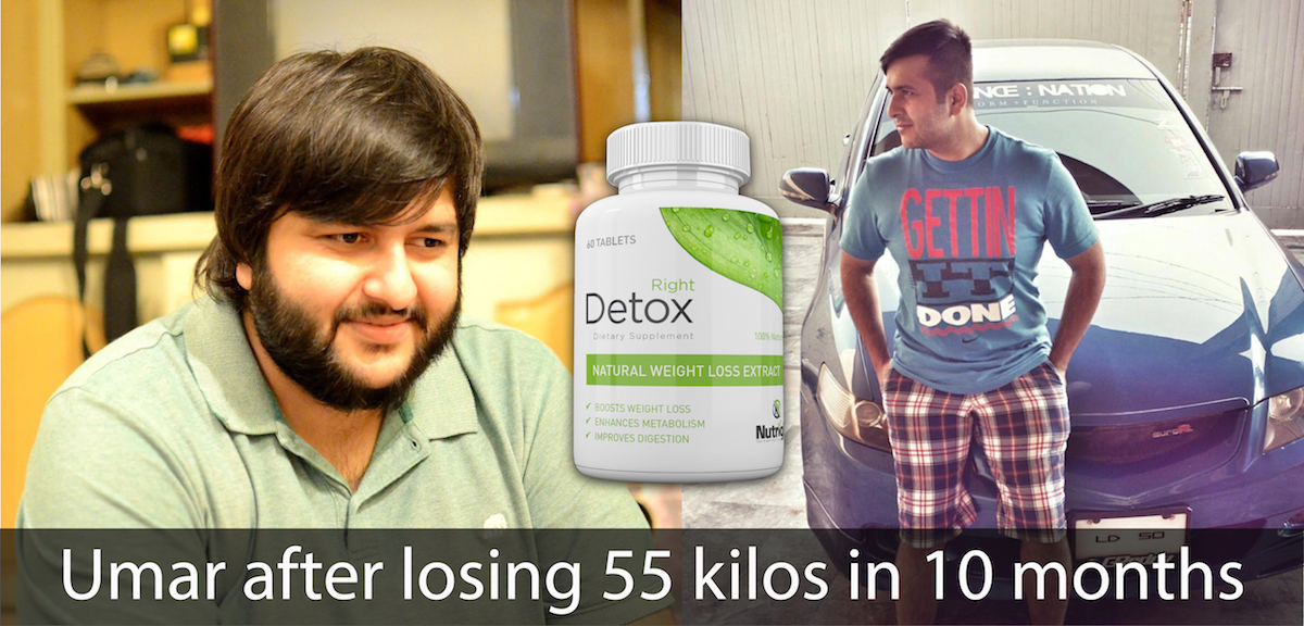 Lost 55 kilos in 10 months - Right Detox Pakistan